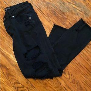 American eagle black tom girl jeans